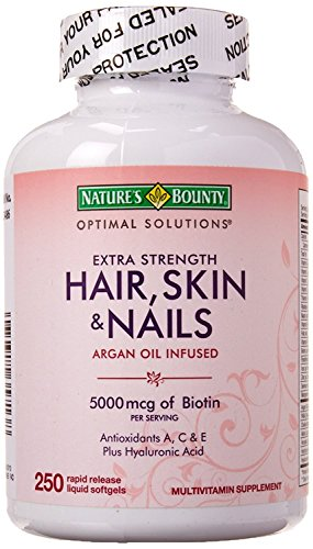 Nature's Bounty Extra Strength Hair Skin Nails, 250 Count (Best Antioxidant Tablets For Skin)