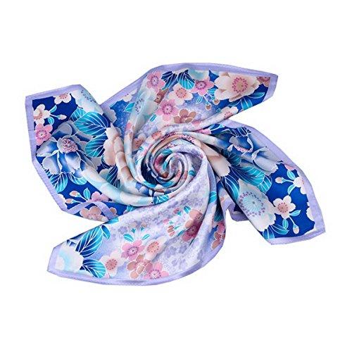 peque impresa a Ahatech bufanda 53 4 de seda para cuadrada 53cm cuadrada elegante bufanda mujer bufanda color IxABYqA0