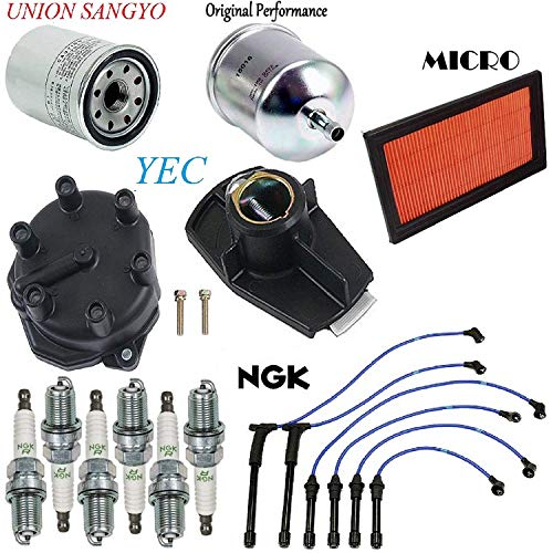 Nissan Xterra Tune Up - Tune Up Kit Filters Rotor Plugs Wire Set FIT Nissan Xterra V6; 3.3L 2000-2004 (To 7/01)
