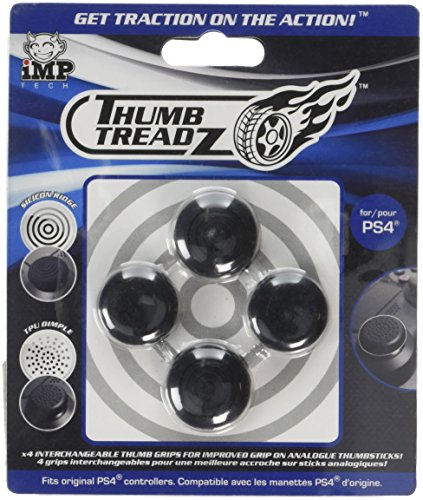 Snakebyte Trigger Treadz – Thumb Treadz for PS4 – 4 Pack Thumb Grips – Analog Caps for PlayStation 4 – PlayStation 4