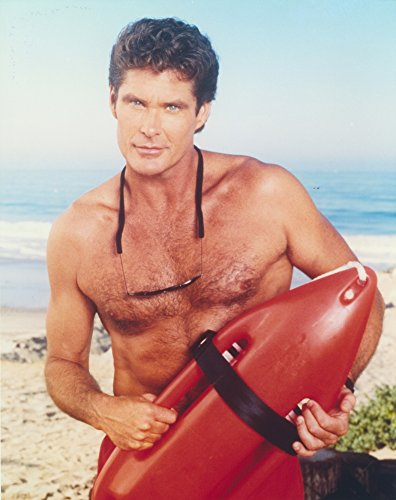 Posterazzi David Hasselhoff Posed in a Lifeguard Costume Photo Print (8 x 10) -