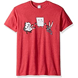 T-Line Men's Funny Shirt RPS Standoff Graphic T-Shirt, Red Heather, X-Large