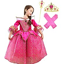 Romy's Collection Princess Aurora Deluxe Pink Party Dress Costume