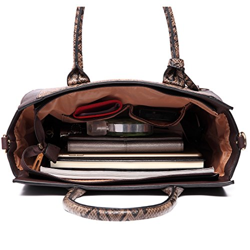 Miss Lulu , Damen Schultertasche 6626 Coffee