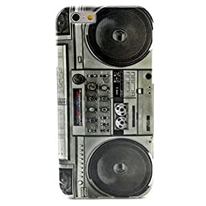 iPhone 6 Case, Wandeneng Retro Boombox Boom Box Soft TPU Gel Protective Cover Case for New Apple Iphone 6 £¨4.7 Inch£©£¨2014£©