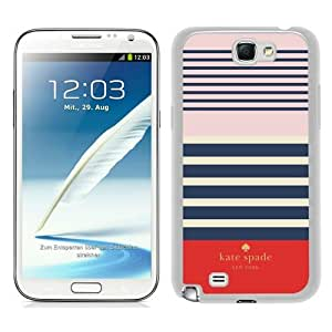 customized Samsung Galaxy Note 2 Case Cover, Fashion Stylish DIY Kate Spade 1 White Case Cover For Samsung Galaxy Note 2 N7100
