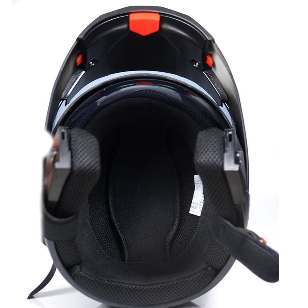 nero opaco con auricolare MOPHOTO Casco integrale da moto con auricolare Bluetooth modulare Flip Up doppia visiera casco da motocross per uomo//donna