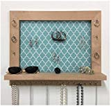 Firwood Forest Jewelry Display, Rustic Wood Wall Mount Organizer for Necklaces Earrings Bracelets Rings