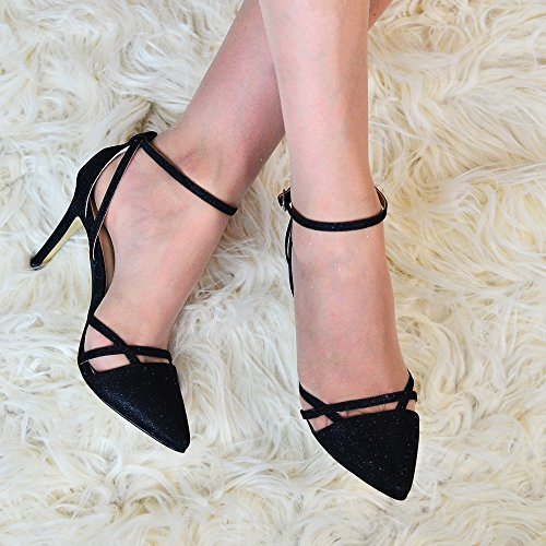 Mujer Zapatos Tacón De Negro Footcandy qA60x7d