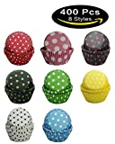red and pink cupcake liners - Cupcake-Liners Muffin-Liners SophieBella Polka-Dot Paper for Holiday Party,400 Ct Mixed 8-Styles