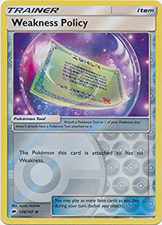 Amazon Com Weakness Policy 126 147 Uncommon Reverse Holo Toys Games It is a possible drop from uncommon and rare boss pokémon. amazon com weakness policy 126 147