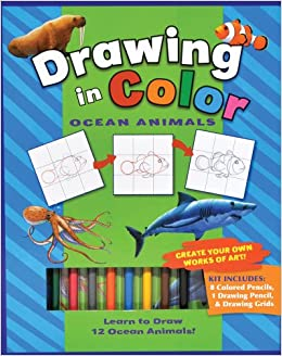 Book Ocean Animals (Drawing in Color series)