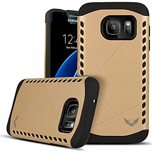 Galaxy S7 Case, VALKYRIE Runic Shield Case For Samsung Galaxy S7 GRIFFIN GOLD [Shock Absorbent] with Cushion [Dual Layer Design] (Fits Galaxy S7 Only) Sales
