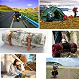 PU Leather Handle Outdoor Picnic Blanket Carry