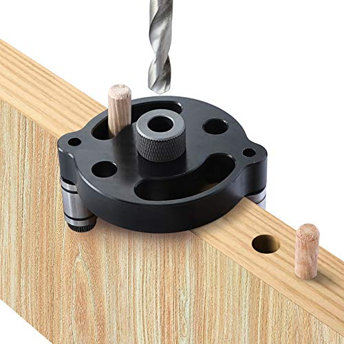 Durable 6//8//10mm Dowel Drilling Jig Set Woodworking Drilling Guide Hole Locator