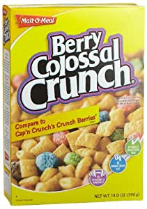 Malt-O-Meal Berry Colossal Crunch Cereal, 14-Ounce Boxes (Pack of 12)