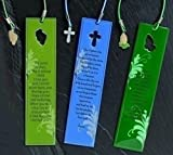Club Pack of 24 Religious Prayer Bookmarks - Footprints, Lord's Prayer, Serenity