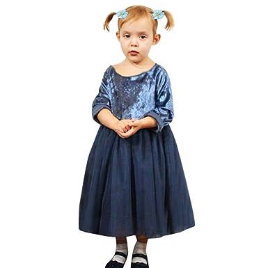 f43ddac7d0e610 Hirolan Babykleidung Herbst Kinder Mädchen Party Spitze Tutu Prinzessin  Kleid Säugling Baby Kleider Outfits Kinderbekleidung (