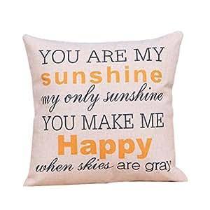 "HP95(TM) Cotton Linen Decorative Throw Pillow Case Cushion Cover 18 ""X18 "" (! K, 18""inch)"