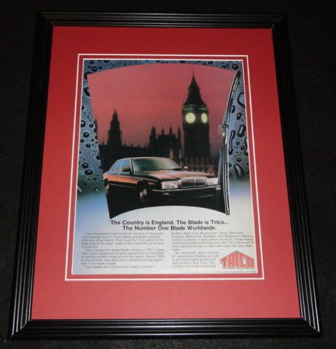 (1987 Trico Wiper Blades Big Ben England Framed 11x14 ORIGINAL Advertisement)