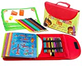 toy organization ideas Drawing Stencil Kit for Kids Large 54-Piece| Fun Travel Activity Set, Organizer Case with More 280 Shapes, Art Craft Girls and Boys, Creativity Educational Toy Ages 3 to Teen | Excellent Gift for Kid
