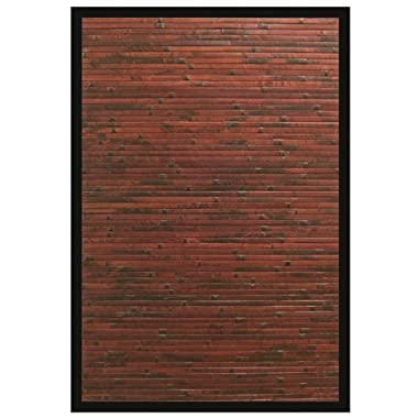 Anji Mountain AMB0085-0046 Cobblestone Area Rug, Mahogany, 4 x 6-Feet