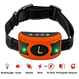 Cheap PETOWN New 2018 Version Flashing Lights Bark Collar with Upgraded Smart Chip – Best Intelligent Dog Shock, Beep Anti-Barking Collar. No Bark Control for Medium/Large Dogs (Orange) …
