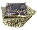 Ruhi's Creations™ Premium Golden Saree Bag / Cover (Pack of 10)