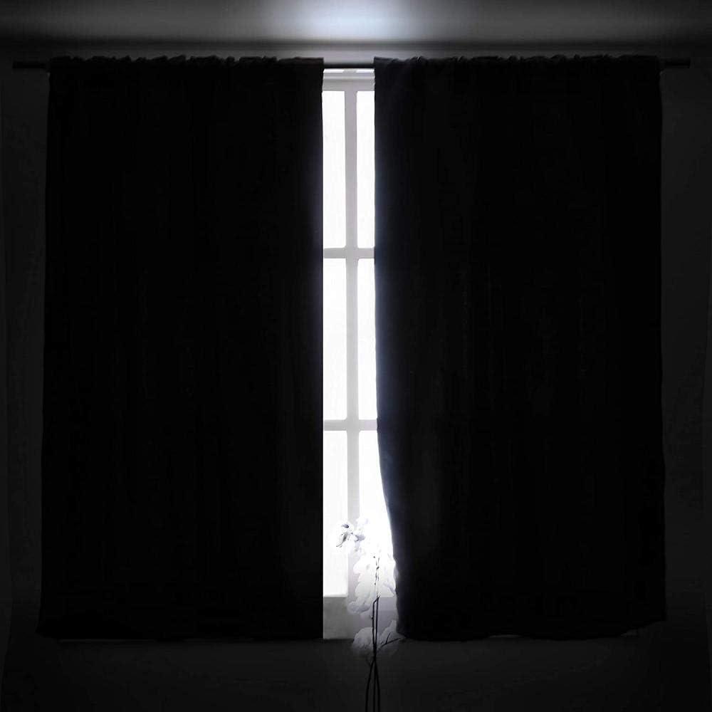 Bbaodan Vorh/änge Blickdicht Mit /Ösen New York 2 St/ücke B110/X/H215Cm Verdunkelungsvorhang Mit /Ösenisolierend Gardinen F/ür Schlafzimmer Kinderzimmer Polyester