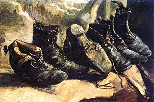 (Dmxplus Original Poster Vincent Van Gogh Three Pairs of Shoes Art Poster Print Wall Decor 16 x 24 Inch)