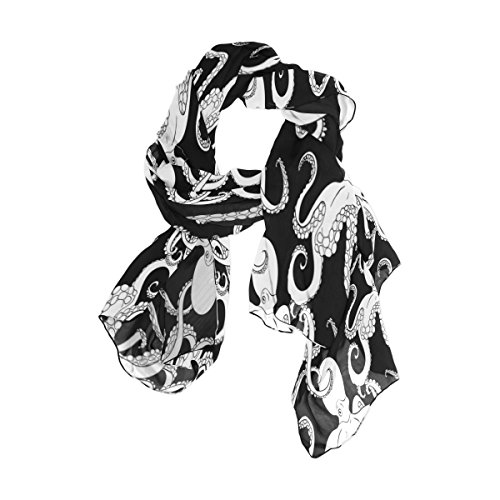 Use4 Fashion Abstract Octopus Chiffon Long Scarf Shawl Wrap