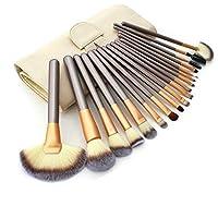 Ammiy® 18 Pcs Makeup Brush Set Professional Wood Handle Premium Synthetic Kabuki Foundation Blending Blush Concealer Eye Face Liquid Powder Cream Cosmetics Lip Brush Tool Brushes Kit ( White Case Bag) from Shenzhen Ammiy Technology Co. Ltd.