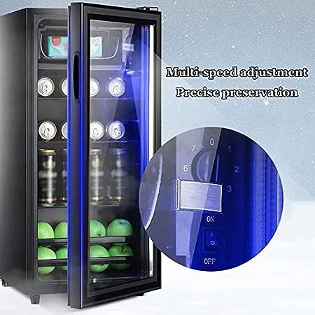 Vinoteca,vinerafrigorifico para Vinocompresor Frigorifico Mini Refrigerador De Vino Compacto Independiente con Temperatura Regulable Entre 11 Y 18 °C