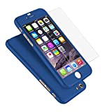 full body protector for iphone 6 - iPhone 6 Case, Coocolor Ultra Thin Full Body Coverage Protection Hard Slim iPhone 6 Case with Tempered Glass Screen Protector for Apple iPhone 6 4.7
