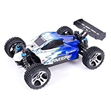 WLToys A959 Vortex 4WD Off-Road Buggy, 1:18 scale, up to 50km/h, with Fully Proportional Speed & Steering, High Speed, 2.4GHz Remote/Receiver (Red or Blue ships random)