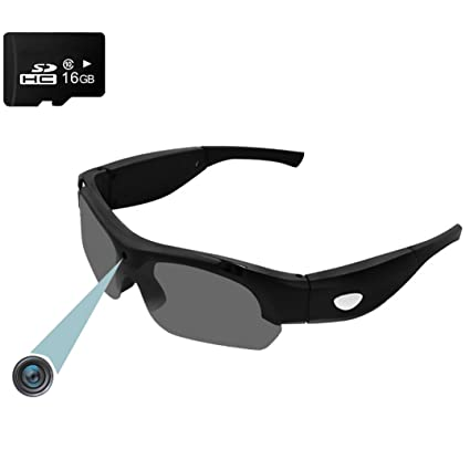 7b3189a2e31a Forepin Hidden Camera Sunglasses reg Spy Cam Glasses 1080P 30FPS Eyewear  with Camera Video Recorder DVR Eyeglasses - Black  Amazon.co.uk  DIY   Tools