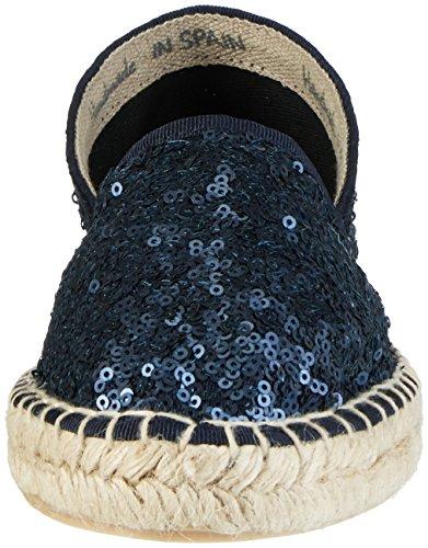 Donna Basse 458 242 Navy Blu Espadrillas BLACK aARI6q