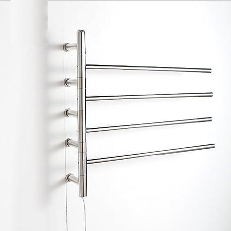 FANGYAO Giratorio montado en la pared de acero inoxidable eléctrico toallero / radiador Baño / Calentador