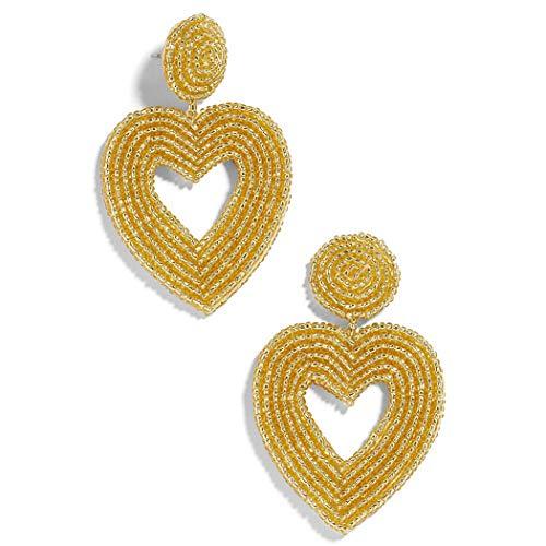 (Statement Beaded Earrings - Bohemian Drop Dangle Earrings for Women (Yellow))