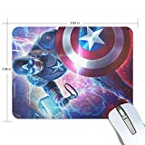 Captain America Lifts Thor Hammer Rectangle Non-Slip Rubber Mousepad Gaming Mouse Pad 7.48X9.84 Inch