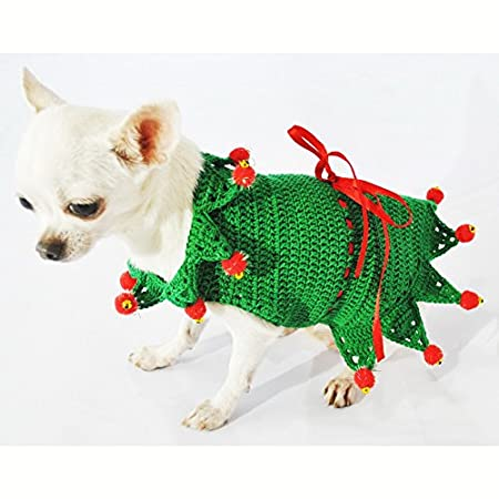 1dd20d3aabf1 Amazon.com Peter Pan Dog Costume Cute Pet Clothing Disney Fairy Tale  Chihuahua Dress Puppy Handmade Crochet Df32 By Myknitt (XS) Pet Supplies Sc  1 St ...