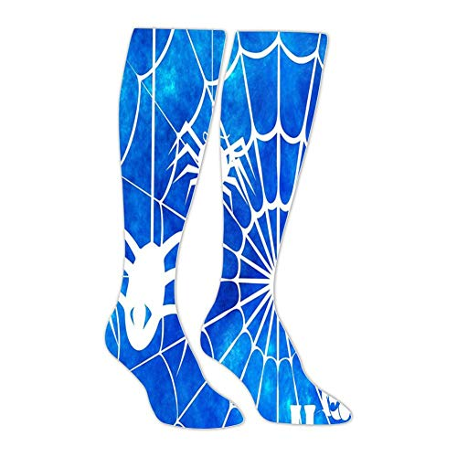 Blue Spider Web Stockings Female Spring And Autumn Warm Slimming Over The Knee - Spider Chr