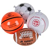 "12 Mini SPORTS BALL Beach BALL Inflates/8"" BASEBALL Basketball FOOTBALL SOCCER/INFLATABLE Party Favors"
