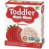 Hot-Kid Toddler Mum-Mum Rice Biscuits, Organic Strawberry...