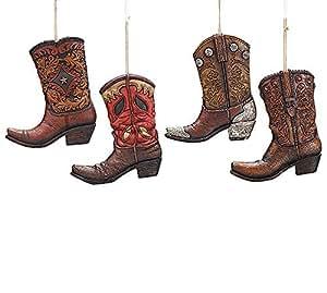 Amazon.com: Large Western Cowboy Boot Christmas Tree ...