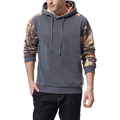 Badger Beauty Bar - SPE969 Hoodie Men's Printed Long-Sleeved Sweatshirt Autumn and Winter Jacket, Gray,XXL