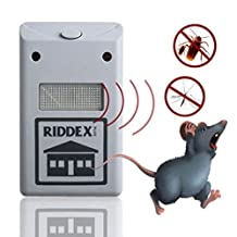 Plus Pest Repeller Ultrasonic - AerWo Electronic Pest Control Repel Mice,Cockroach,Fly,Mosquito,Ants,Spiders,Bed Bugs,Rodent - Indoor Home Insect Control Repellent Roaches Equipment