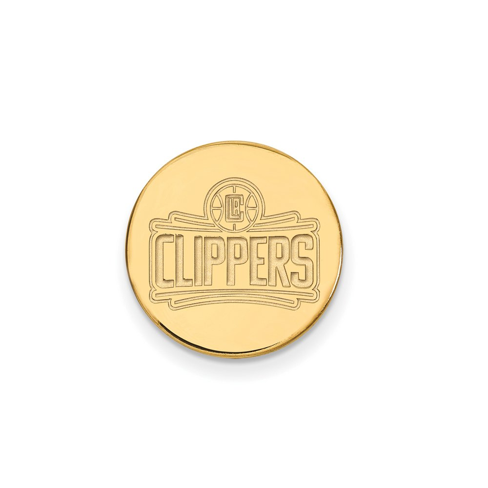 NBA Los Angeles Clippers Lapel Pin in 14K Yellow Gold by LogoArt