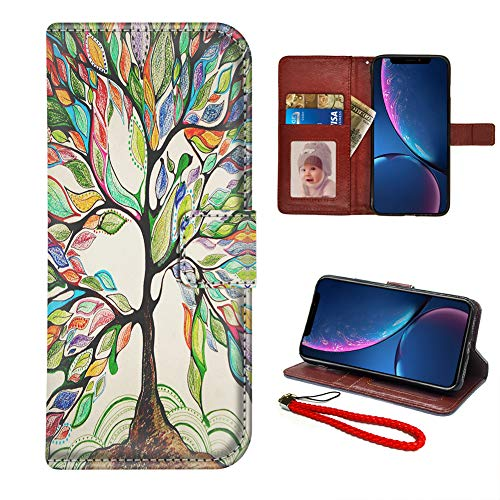 Best Life Cover - Galdas iPhone XR Case Love Tree iPhone XR Wallet Case for Women Man with Magnetic Protective Cover Pu Leather Flip Case with Card Slots Stand and Wrist Strap