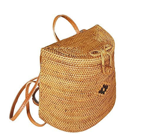 Rattan Nation - Woven Rattan Backpack Bag, Basket Bag